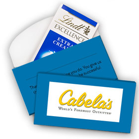 Deluxe Personalized Add Your Logo Lindt Chocolate Bar in Gift Box