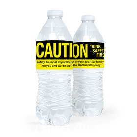 Personalized Safety Caution Water Bottle Sticker Labels (5 Labels)
