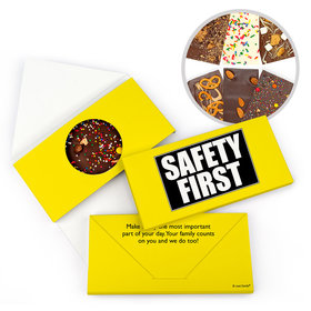 Personalized Business Safety First Gourmet Infused Belgian Chocolate Bars (3.5oz)