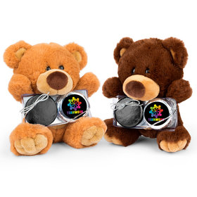Personalized Business All Hands In Teamwork Teddy Bear with Chocolate Covered Oreo 2pk