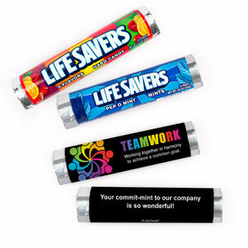 Personalized Teamwork All Hands In Lifesavers Rolls (20 Rolls)