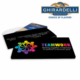 Deluxe Personalized Business All Hands In Ghirardelli Chocolate Bar in Gift Box