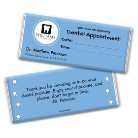 Personalized Add Your Logo Dental Appointment Chocolate Bar Wrappers Only
