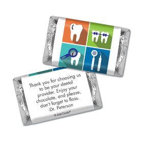 Personalized Add Your Logo Dental Pop Art Hershey's Miniatures