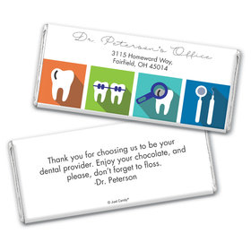 Personalized Add Your Logo Dental Pop Art Chocolate Bar Wrappers Only