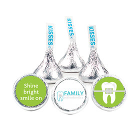 """Personalized Orthodontic Dental Brackets 3/4"""" Stickers for Hershey's Kisses (108 Stickers)"""
