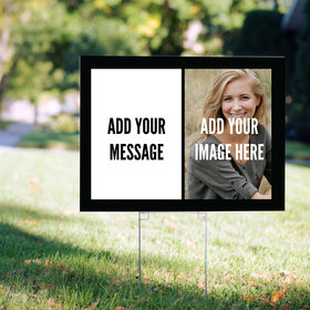 Custom Yard Sign with Image and Message