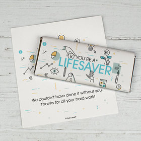 Personalized Business Appreciation You're a Lifesaver Chocolate Bar Wrappers Only