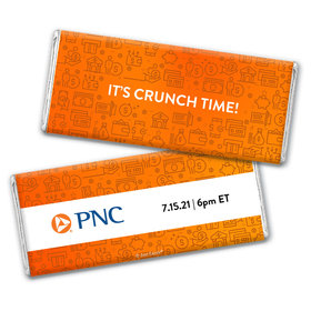 Personalized Business Promotional It's Crunch Time Chocolate Bar & Wrapper