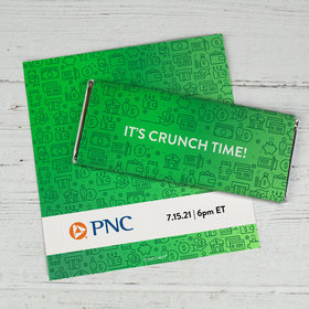 Personalized Business Promotional It's Crunch Time Chocolate Bar Wrappers Only
