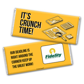 Personalized Logo It's Crunch Time Chocolate Bar & Wrapper