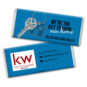 Personalized Business Promotional New Home Keys Chocolate Bar & Wrapper