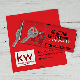 Personalized Business Promotional New Home Keys Chocolate Bar Wrappers Only