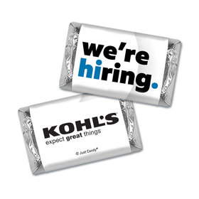 Personalized Business Promotional We're Hiring Hershey's Miniatures
