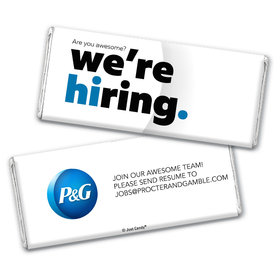 Personalized Business Promotional We're Hiring Chocolate Bar & Wrapper