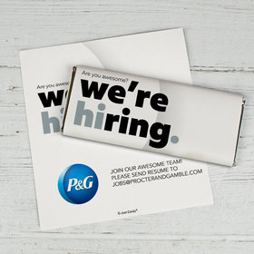 Personalized Business Promotional We're Hiring Chocolate Bar Wrappers Only
