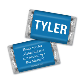 Bar Mitzvah Personalized Hershey's Miniatures Block Name