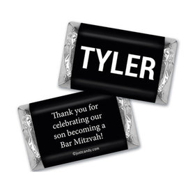 Bar Mitzvah Personalized Hershey's Miniatures Wrappers Block Name