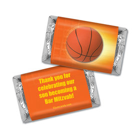 Bar Mitzvah Personalized Hershey's Miniatures Wrappers Basketball Sport