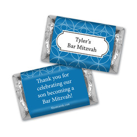 Bar Mitzvah Personalized Hershey's Miniatures Place Cards