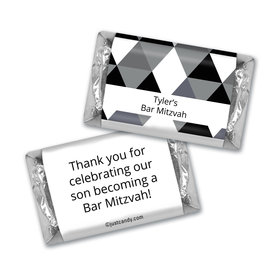 Bar Mitzvah Personalized Hershey's Miniatures Triangle Pattern