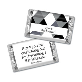Bar Mitzvah Personalized Hershey's Miniatures Wrappers Triangle Pattern