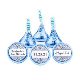 Personalized Bar Mitzvah Judaic Joy Hershey's Kisses (50 pack)