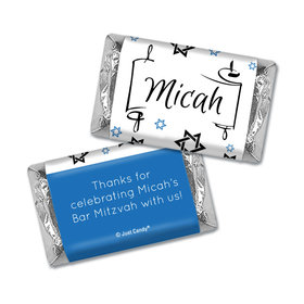 Personalized Bar Mitzvah Scroll & Stars Hershey's Hershey's Miniatures