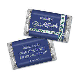 Personalized Bat Mitzvah Symbolic Stripes Mini Wrappers