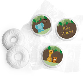 Baby Shower Personalized LifeSavers 5 Flavor Hard Candy Jungle Safari Animals