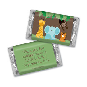 Baby Shower Personalized Hershey's Miniatures Jungle Safari Animals
