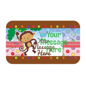 Fisher Price Baby Personalized Rectangular Stickers (18 Stickers)