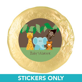 "Baby Shower 1.25"" Sticker Jungle Safari Animals (48 Stickers)"