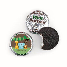Baby Shower Personalized Pearson's Mint Patties Jungle Safari Animals