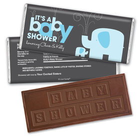Baby Shower Personalized Embossed Chocolate Bar Elephant