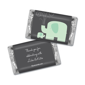 Baby Shower Personalized Hershey's Miniatures Wrappers Elephant