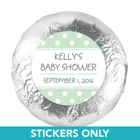"Baby Shower 1.25"" Sticker Polka Dot (48 Stickers)"