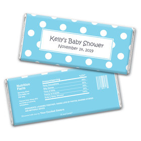 Baby Shower Personalized Chocolate Bar Wrappers Polka Dot