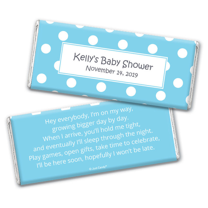baby shower Printable Candy Wrappers polka dots Chocolate Bar Candy Wrappers custom for you Baby Shower Candy Wrappers