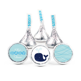 Baby Shower Personalized Hershey's Kisses Whale Assembled Kisses (50 Pack)