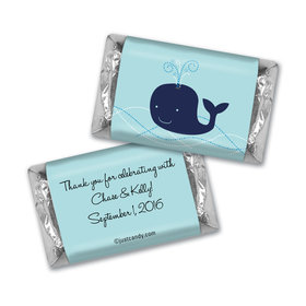Baby Shower Personalized Hershey's Miniatures Whale