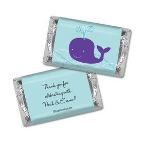 Baby Shower Personalized Hershey's Miniatures Wrappers Whale