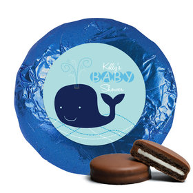 Baby Shower Chocolate Covered Oreos Whale (24 Pack)
