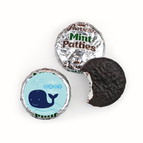 Baby Shower Personalized Pearson's Mint Patties Whale