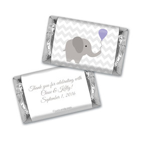 Baby Shower Personalized Hershey's Miniatures Chevron Dots Elephant