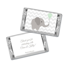 Baby Shower Personalized Hershey's Miniatures Wrappers Chevron Dots Elephant