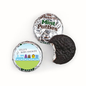 Baby Shower Personalized Pearson's Mint Patties Safari Animal Train