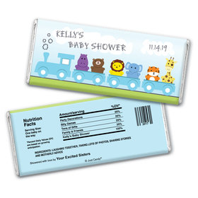 Baby Shower Personalized Chocolate Bar Wrappers Safari Animal Train