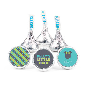 "Baby Shower 3/4"" Sticker Little Man Bow Tie (108 Stickers)"