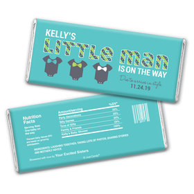 Baby Shower Personalized Chocolate Bar Wrappers Little Man Bow Tie